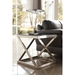 Axis Contemporary Brushed Nickel End Table