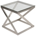 Axis Modern Brushed Nickel End Table