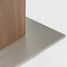 Ayana Frosted Glass + Walnut + Stainless Steel Contemporary Extension Table