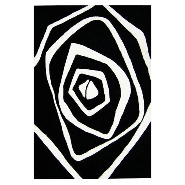 B&W Vertigo Contemporary Area Rug