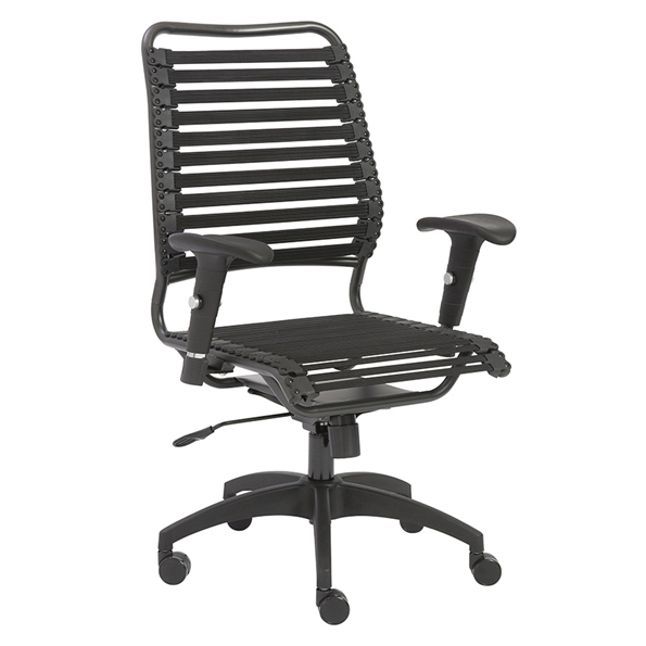 Bennet Black Modern High Back Office Chair