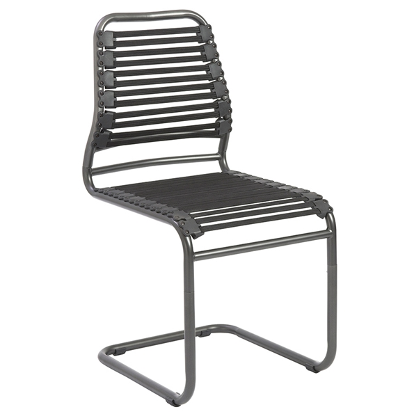 Baba Black Modern Visitor Chair