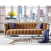 Badeau Contemporary Cognac Velvet Tufted Sofa