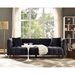 Badeau Contemporary Gray Velvet Tufted Sofa