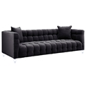 Badeau Modern Gray Tufted Velvet Sofa