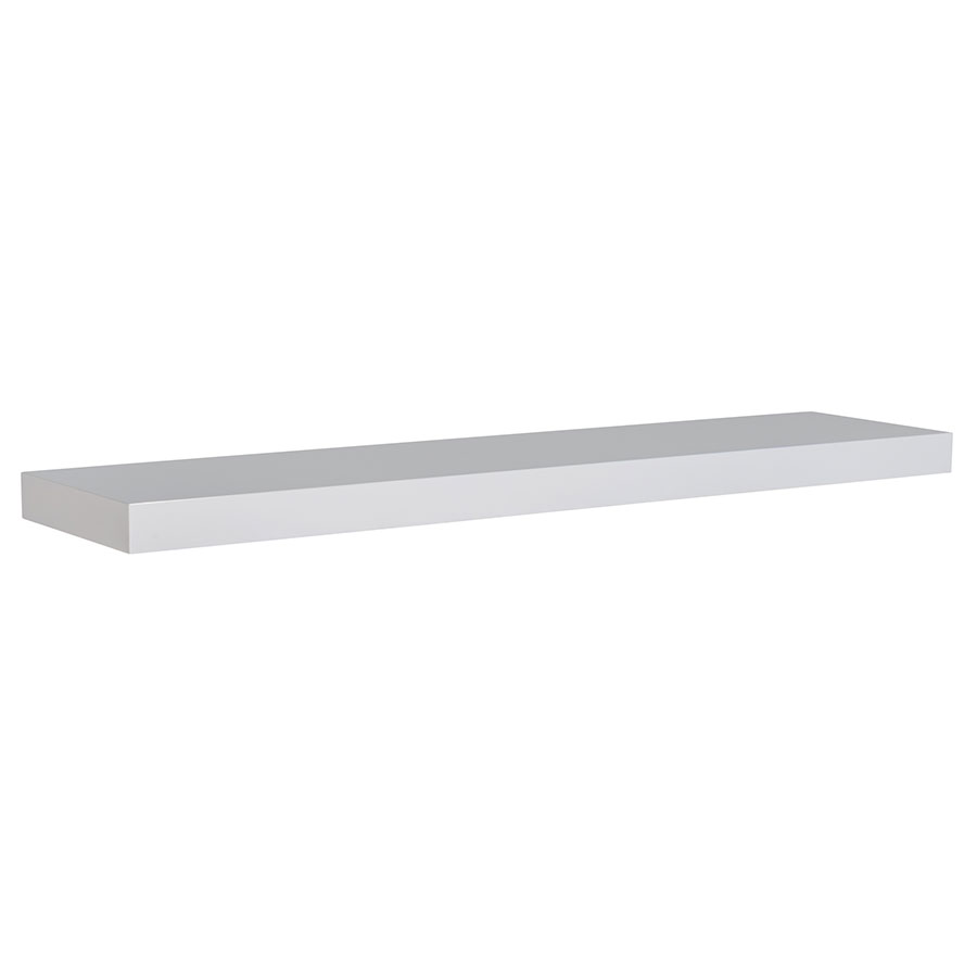Bailey Modern 43 Inch White Wall Shelf