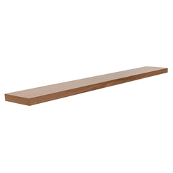 Bailey Modern 75 Inch Walnut Wall Shelf