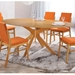 Balboa Contemporary Oval Dining Table in Oak