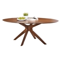 Balboa Modern Oval Dining Table in Walnut
