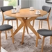 Balboa Contemporary Round Dining Table in Oak
