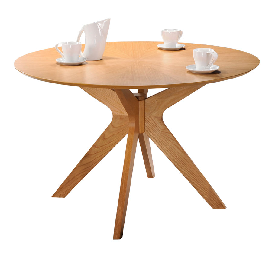 modern round dining room table. Balboa Modern Round Dining Table in Oak Tables  Extension Eurway