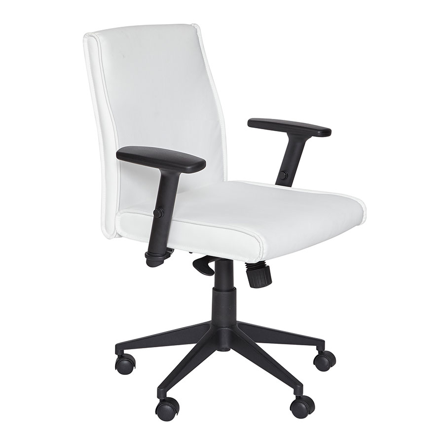 Baldwin Modern White Office Chair