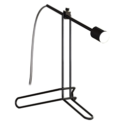 Modloft Black Balfour Modern Table Lamp in Black Chrome