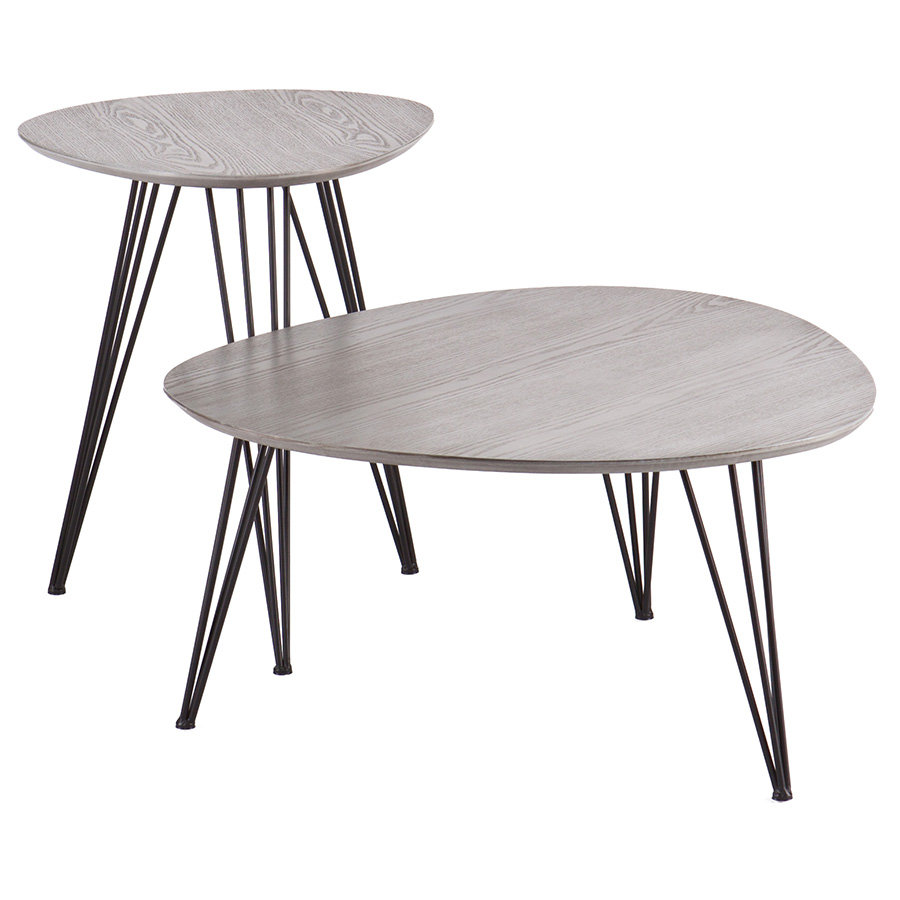 Banno Modern CocktailEnd Table Set Eurway Furniture - Cocktail end table sets