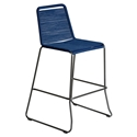 Modloft Barclay Blue Rope + Steel Modern Indoor + Outdoor Bar Stool