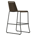 Modloft Barclay Mocha Rope + Steel Modern Indoor + Outdoor Bar Stool