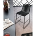 Modloft Barclay Black Rope + Steel Modern Indoor + Outdoor Counter Stool - Room Setting