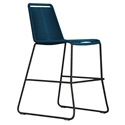 Modloft Barclay Blue Rope + Steel Modern Indoor + Outdoor Counter Stool