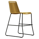 Modloft Barclay Curry Yellow Rope + Steel Modern Indoor + Outdoor Counter Stool