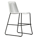 Modloft Barclay White Rope + Steel Modern Indoor + Outdoor Counter Stool