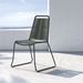 Barclay Contemporary Dark Gray Cord Dining Chair by Modloft