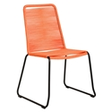 Modloft Barclay Orange Rope + Steel Modern Indoor + Outdoor Dining Chair