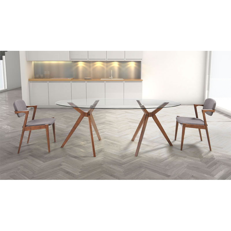 ... Barclay Contemporary Oval Dining Table ...
