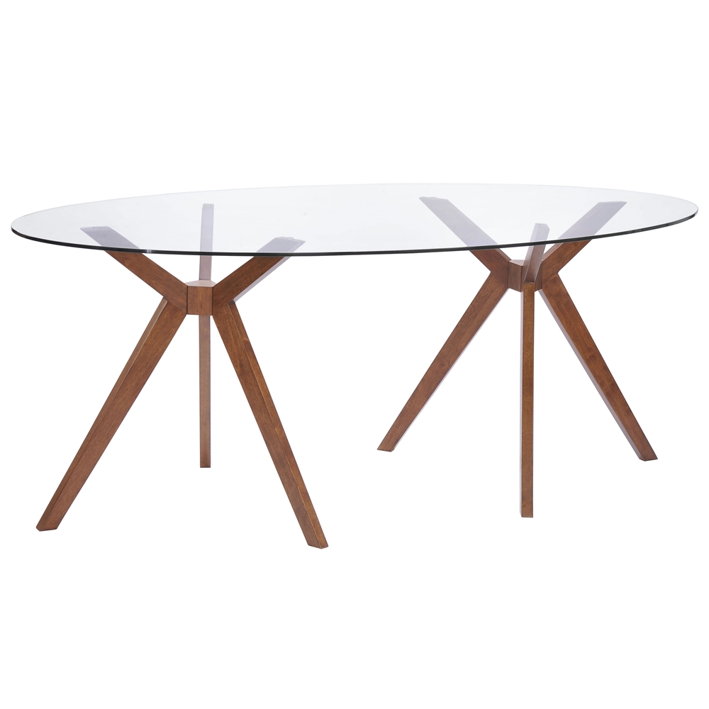 table starburst walnut oval dining