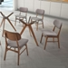 Barclay Oval Dining Table + Midolo Dining Chairs