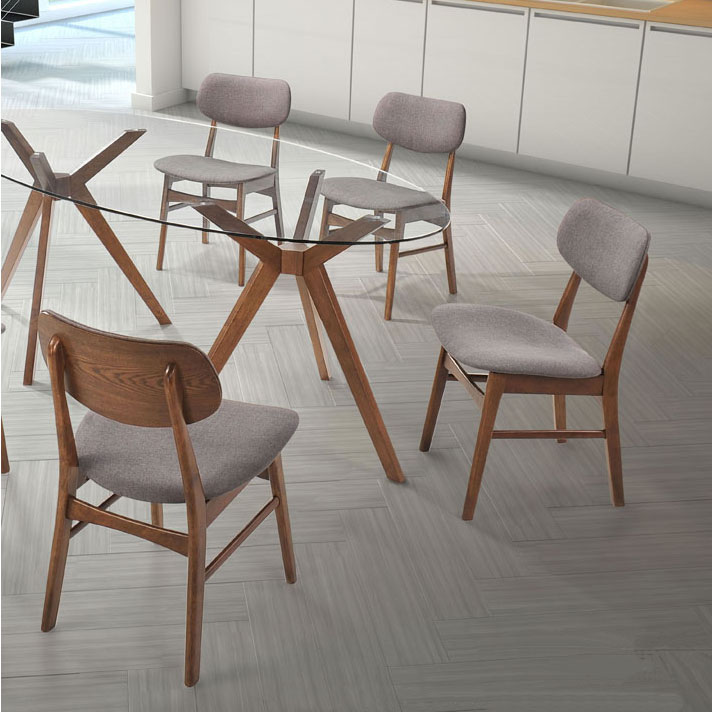 ... Barclay Oval Dining Table + Midolo Dining Chairs