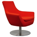 Barlow Modern Lounge Chair in Red Wool