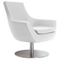 Barlow Modern Lounge Chair in White Leatherette