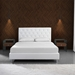 Baroque Walnut Veneer + Bent Glass Modern Nightstand + End Table - Lifestyle Two