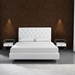 Baroque White Lacquer + Bent Glass Modern Nightstand + End Table - Lifestyle 3