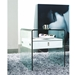 Baroque White Lacquer + Bent Glass Modern Nightstand + End Table - Lifestyle 2