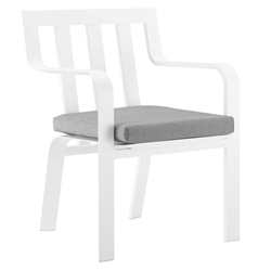 Barrett Modern White + Gray Outdoor Dining Chair