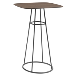 Barry Anthracite + Laminate Contemporary Bar Table