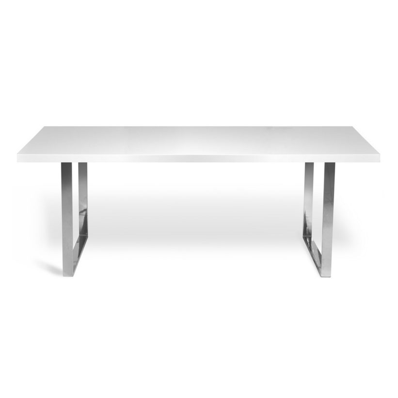 Barton 63 Inch Modern White Dining Table