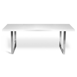 Barton 78 Inch Modern White Dining Table