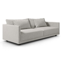 Basel Modern Sofa in Slate Pebble Fabric by Modloft