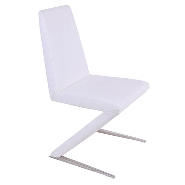 Basilio Contemporary White Dining Chair