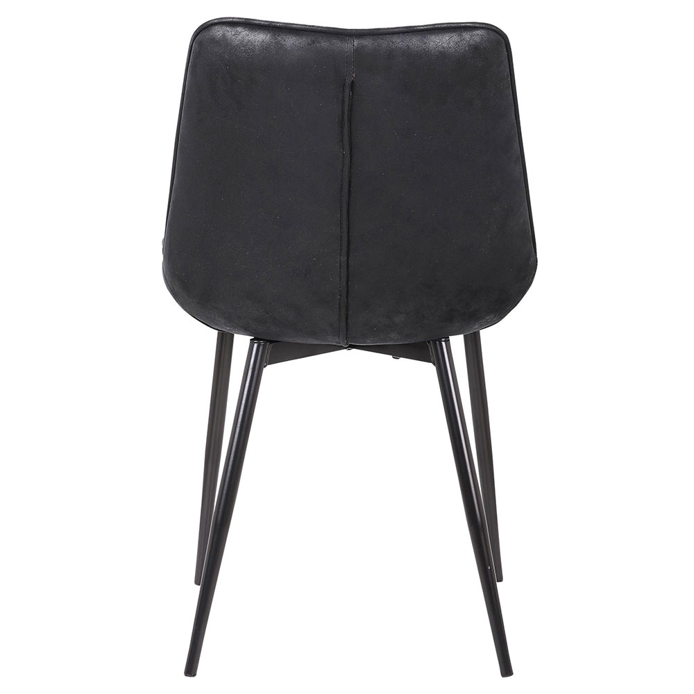 ... Bombay Black Upholstered Modern Side Chair ...