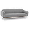 Bastille Light Gray Fabric + Wood Platform + Steel Legs Modern Sofa