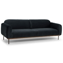 Benson Shadow Gray Fabric Upholstery + Wood Platform + Metal Legs Modern Industrial Sofa
