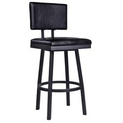 Bauer Black Modern Armless Bar Stool