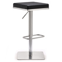 Bavaria Modern Black Adjustable Height Stool