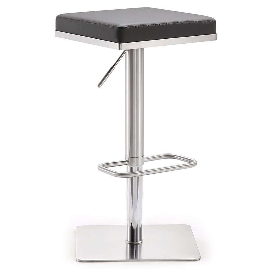 Bavaria Modern Gray Adjustable Height Stool