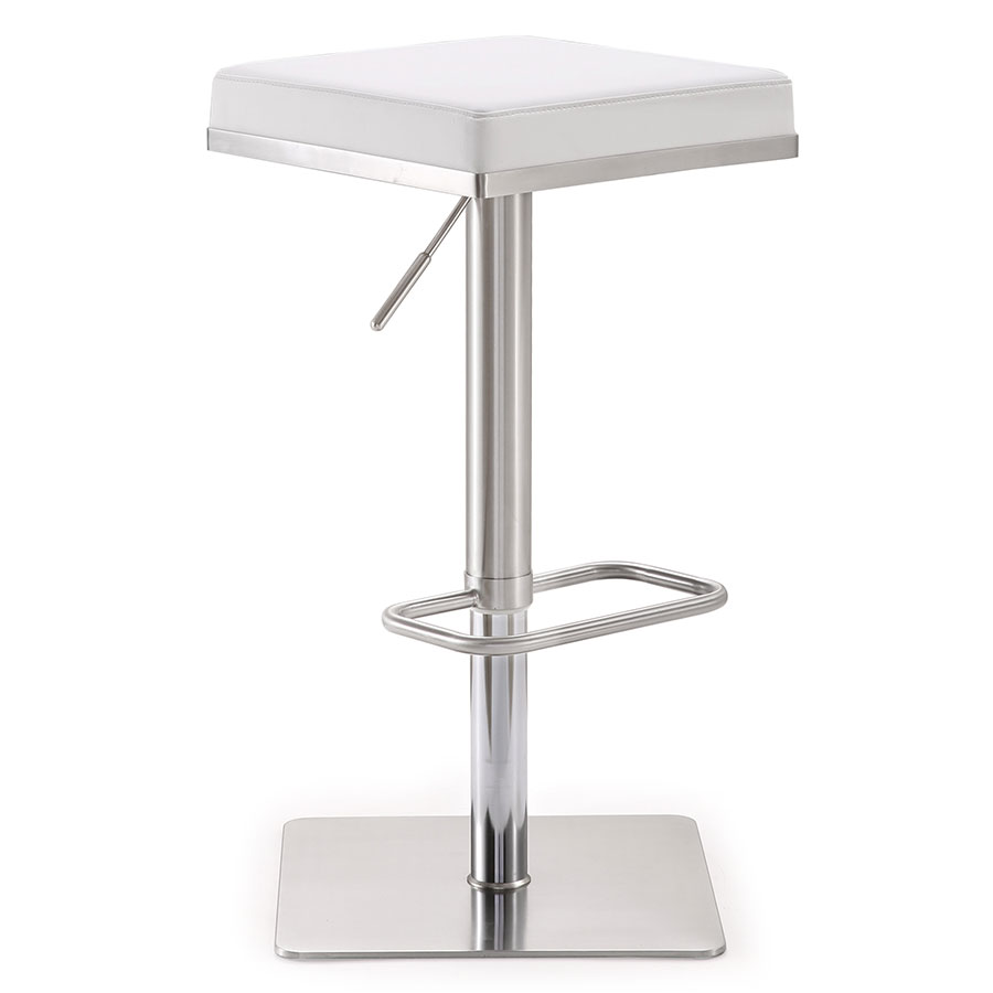 Bavaria Modern White Adjustable Height Stool