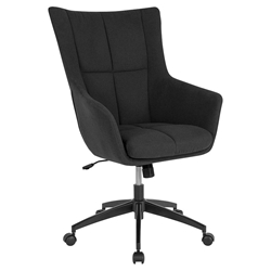 Bavaria High Back Black Fabric Modern Office Chair