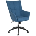 Bavaria High Back Blue Fabric Modern Office Chair